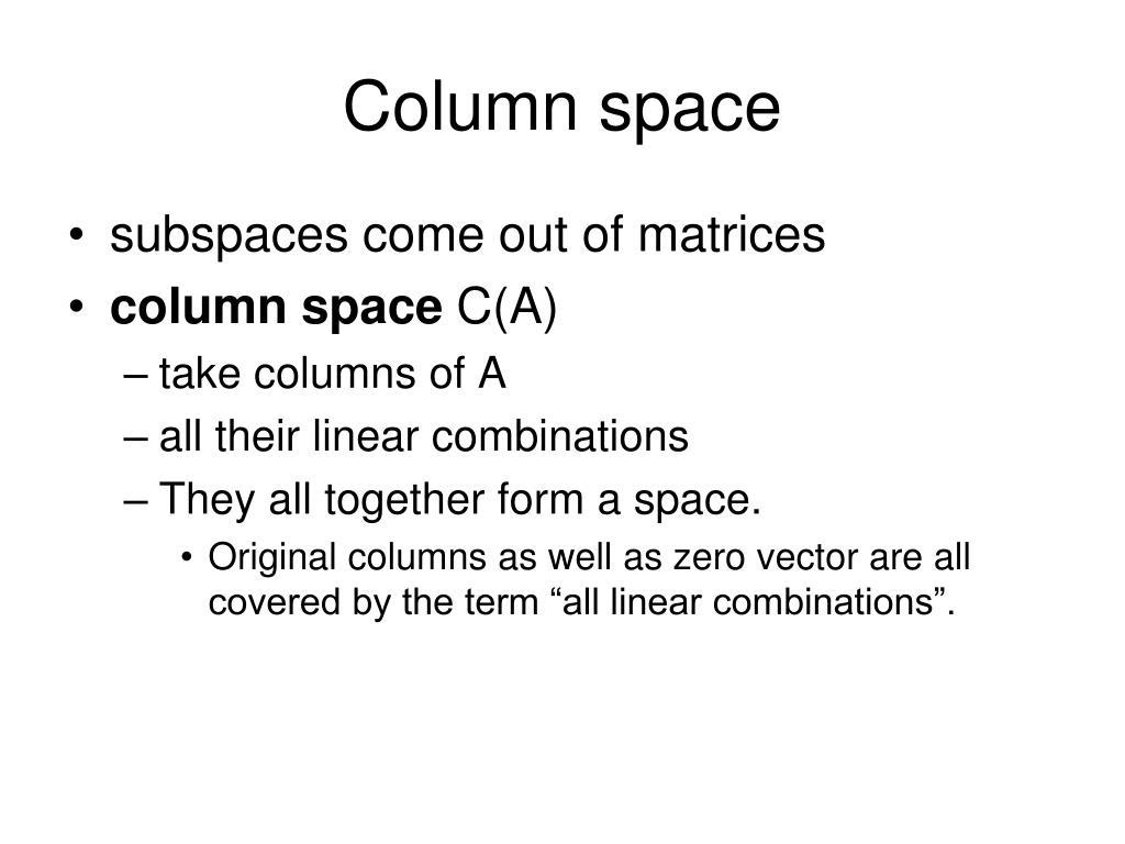 Column space