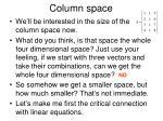 column space10