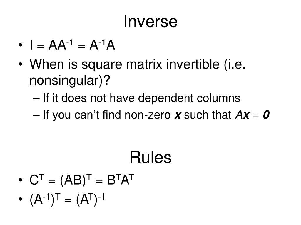 Inverse