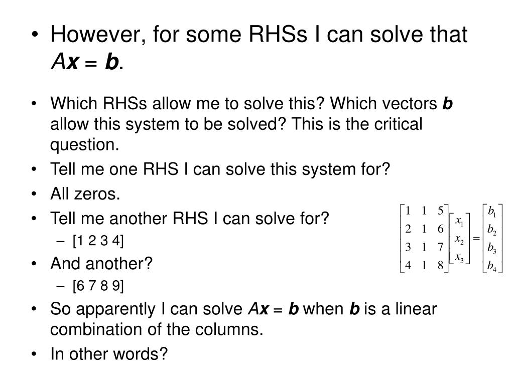 However, for some RHSs I can solve that