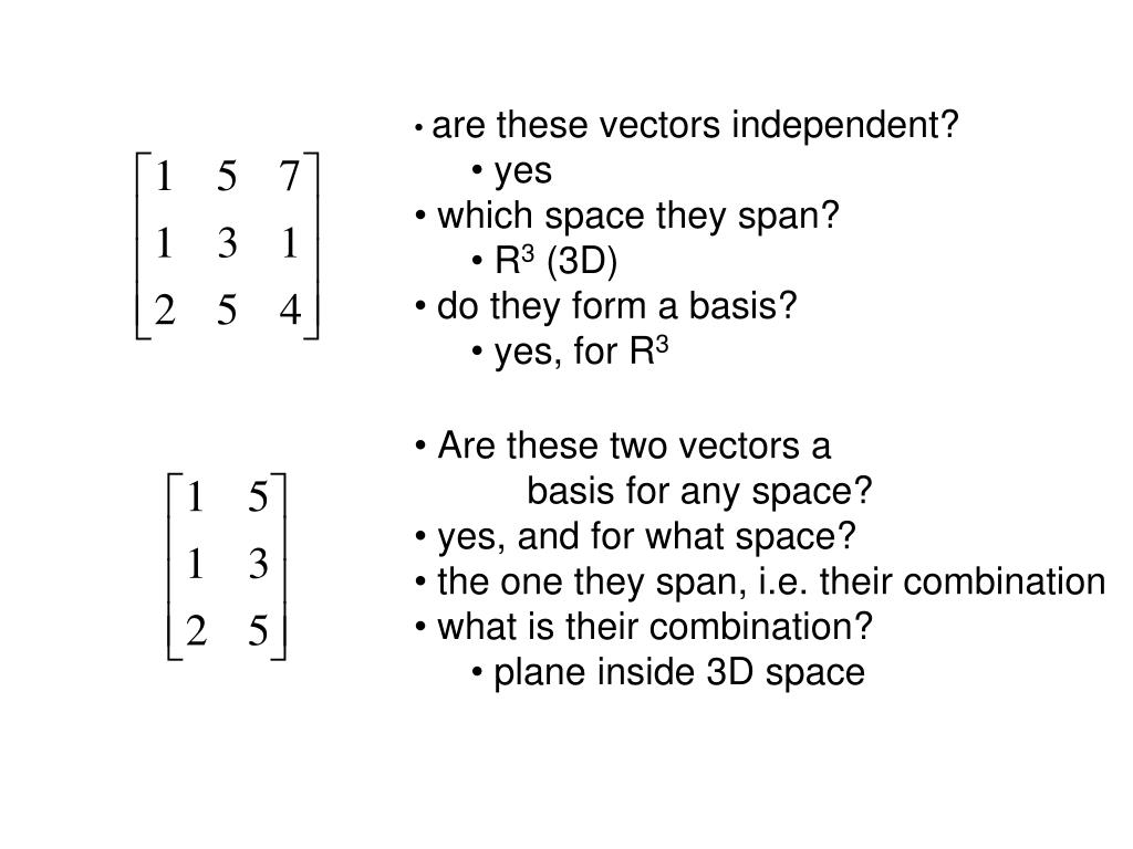 are these vectors independent?