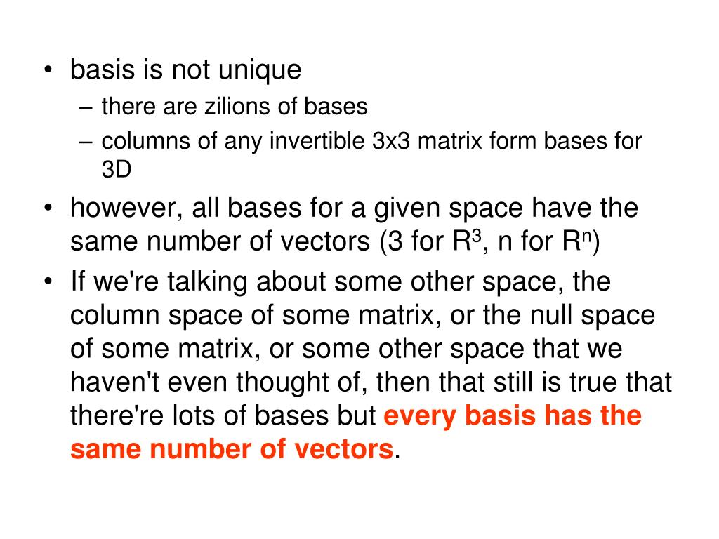 basis is not unique