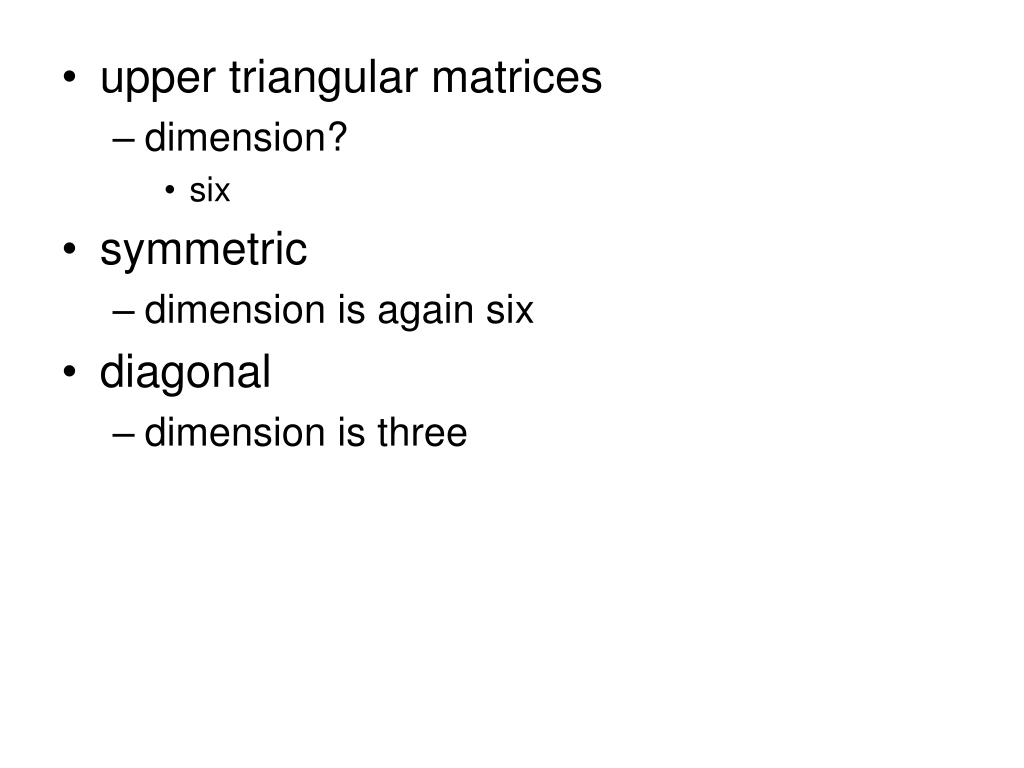 upper triangular matrices