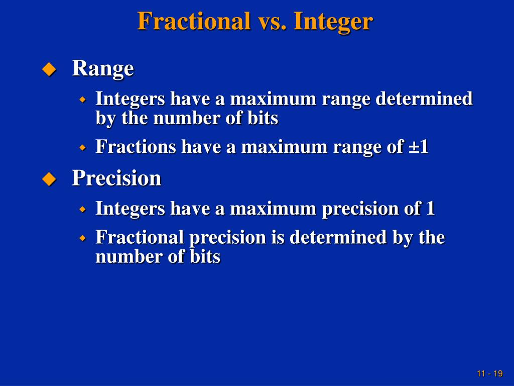 Fractional vs. Integer