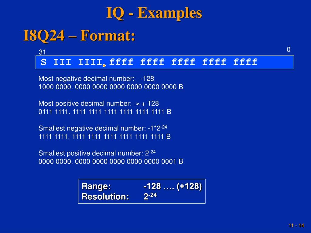 IQ - Examples