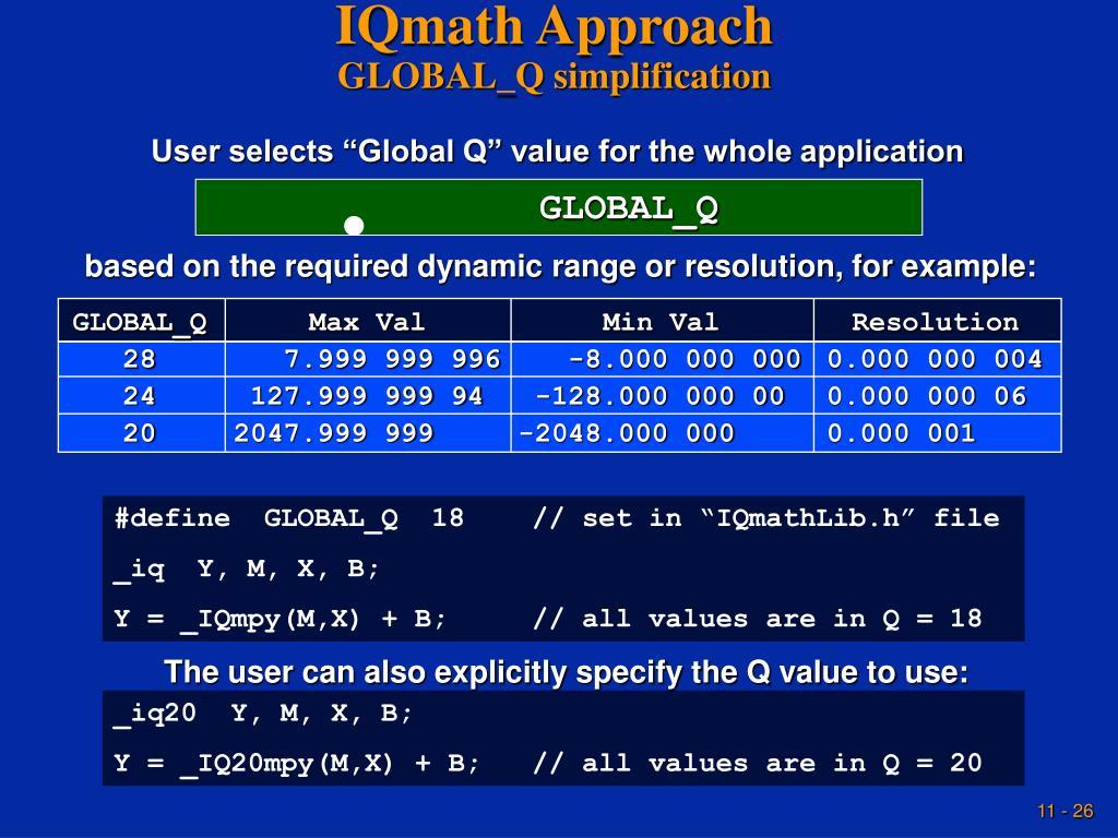 IQmath Approach