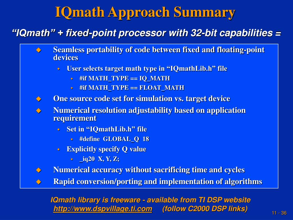 IQmath Approach Summary