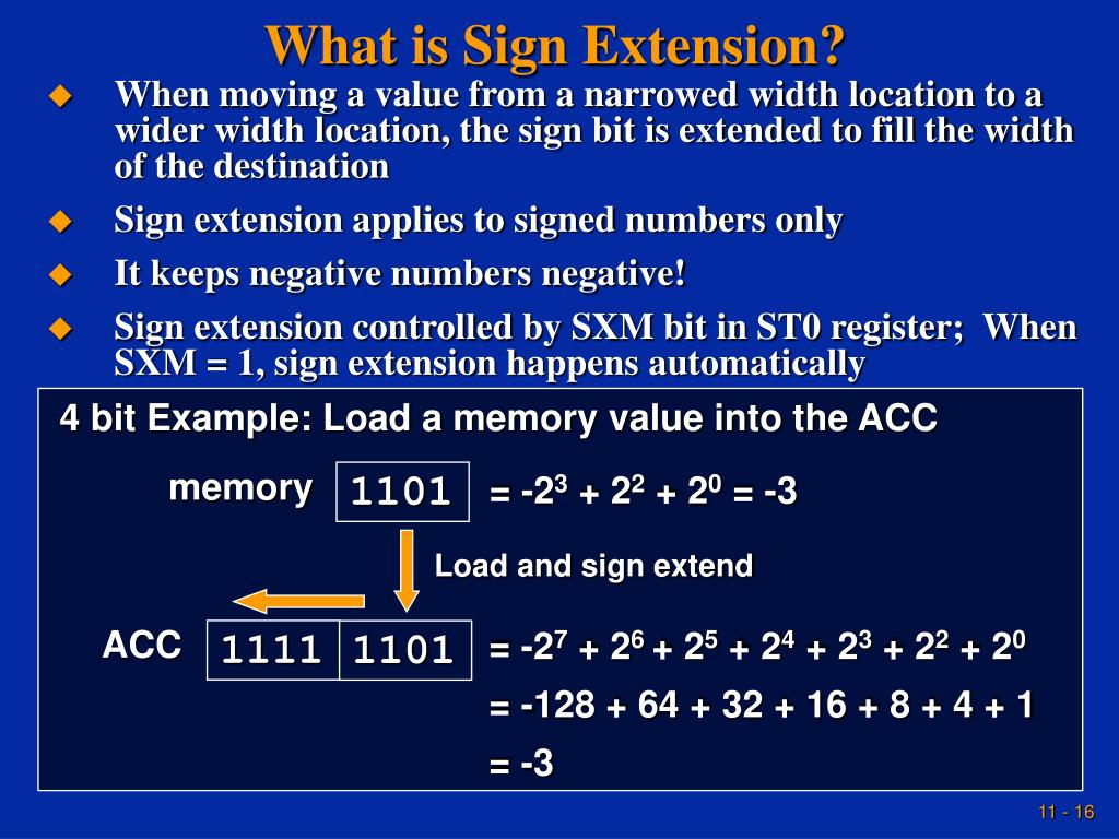 What is Sign Extension?