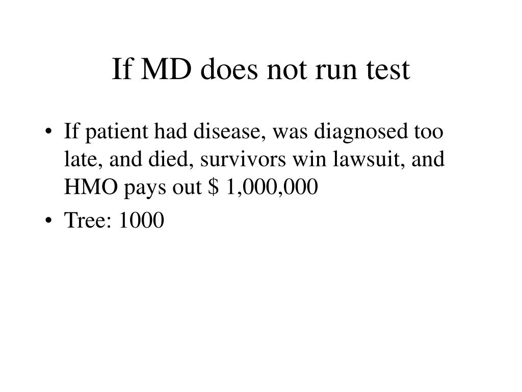If MD does not run test