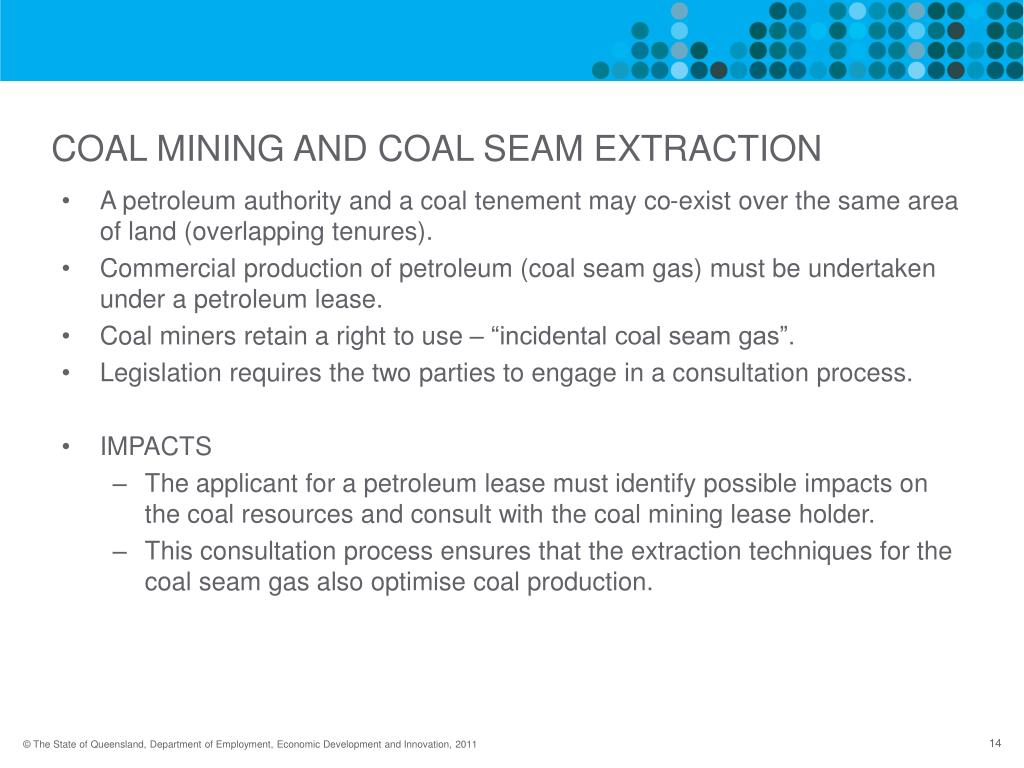 COAL MINING AND COAL SEAM EXTRACTION