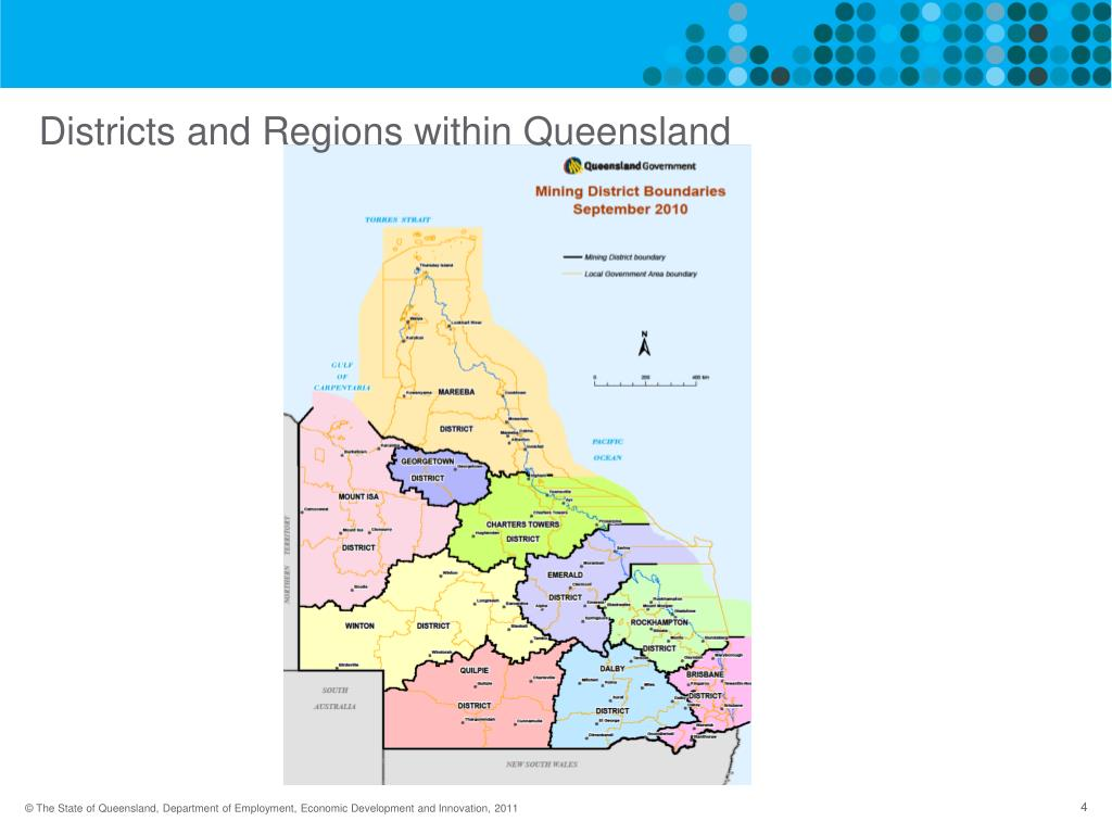 Districts and Regions within Queensland