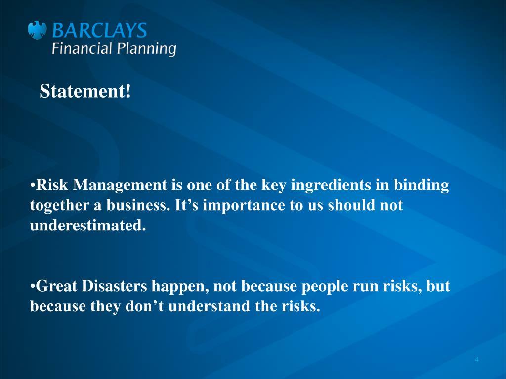 Statement!