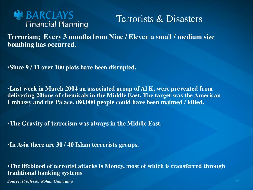 Terrorism;