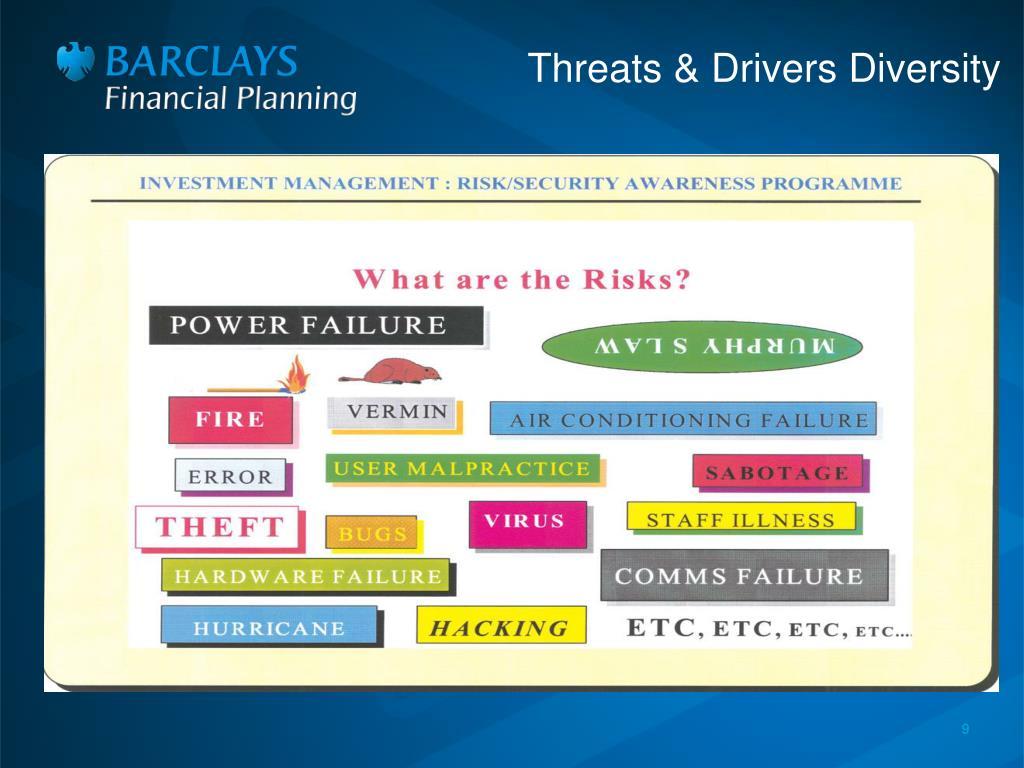 Threats & Drivers Diversity