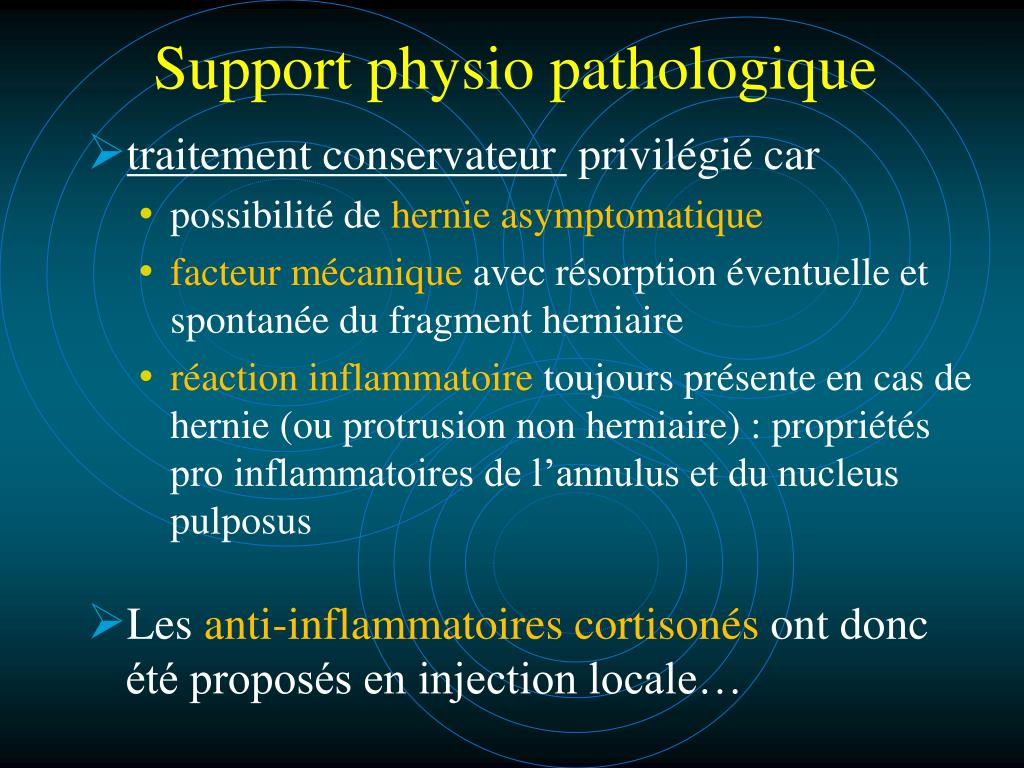 Support physio pathologique