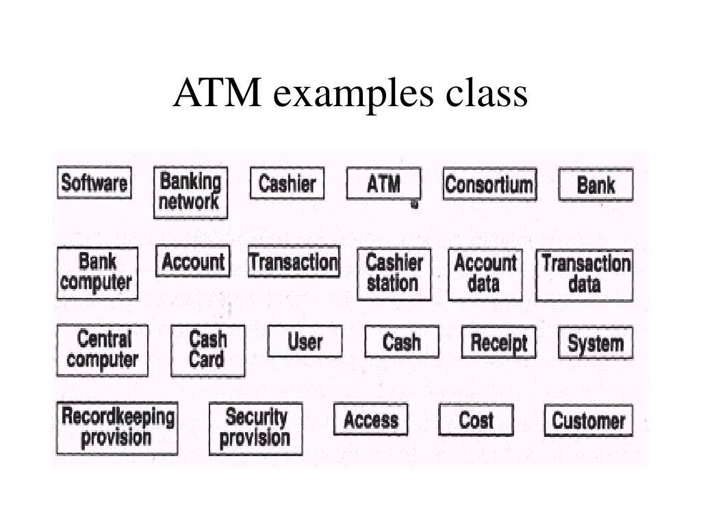 ATM examples class