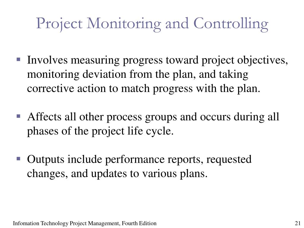 Project Monitoring and Controlling