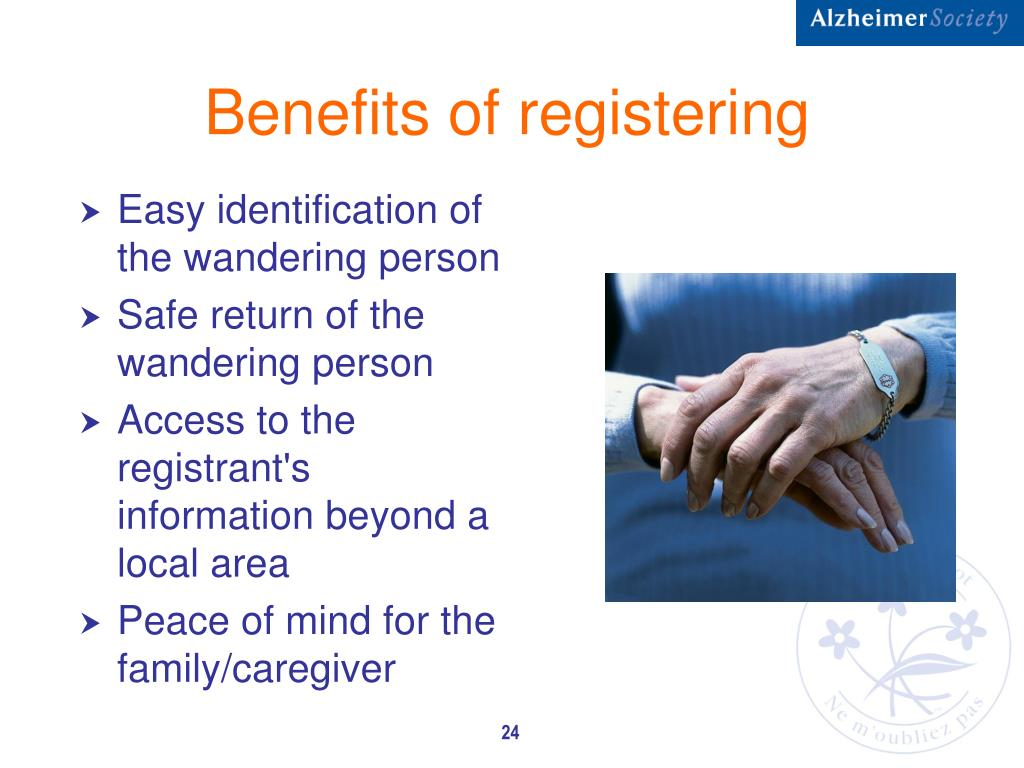 Benefits of registering