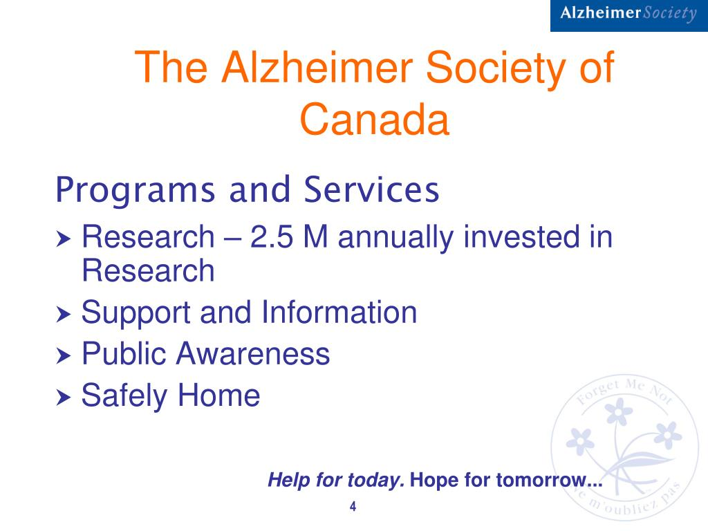 The Alzheimer Society of Canada