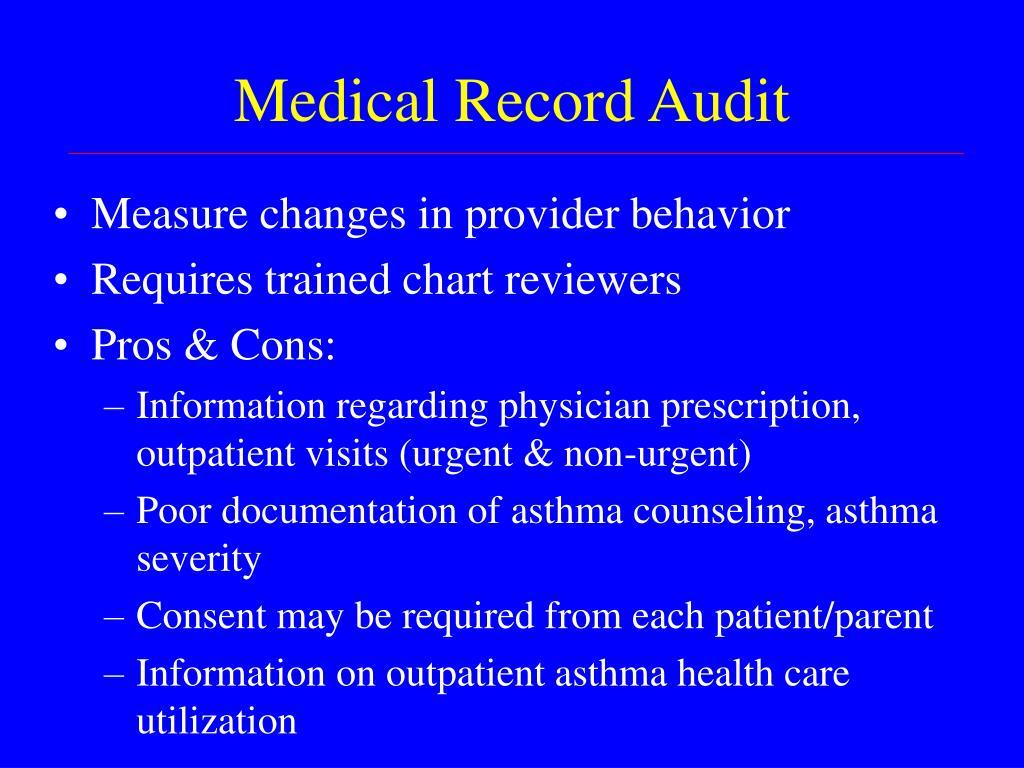 Medical Record Audit