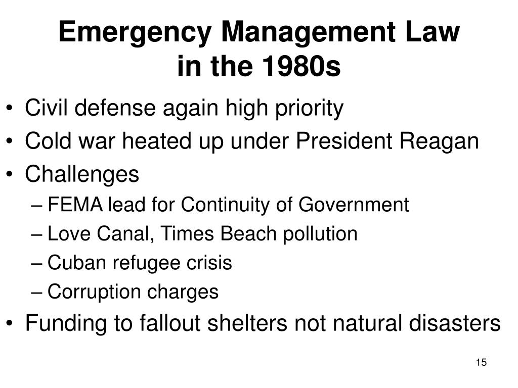 Emergency Management Law