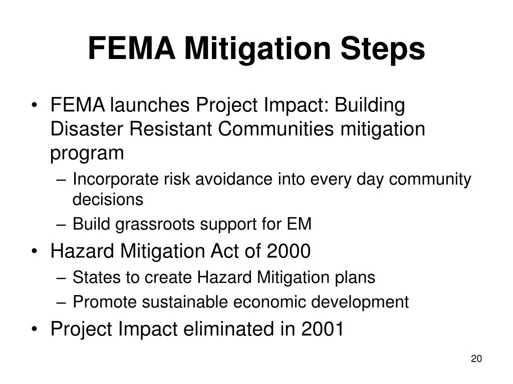 FEMA Mitigation Steps