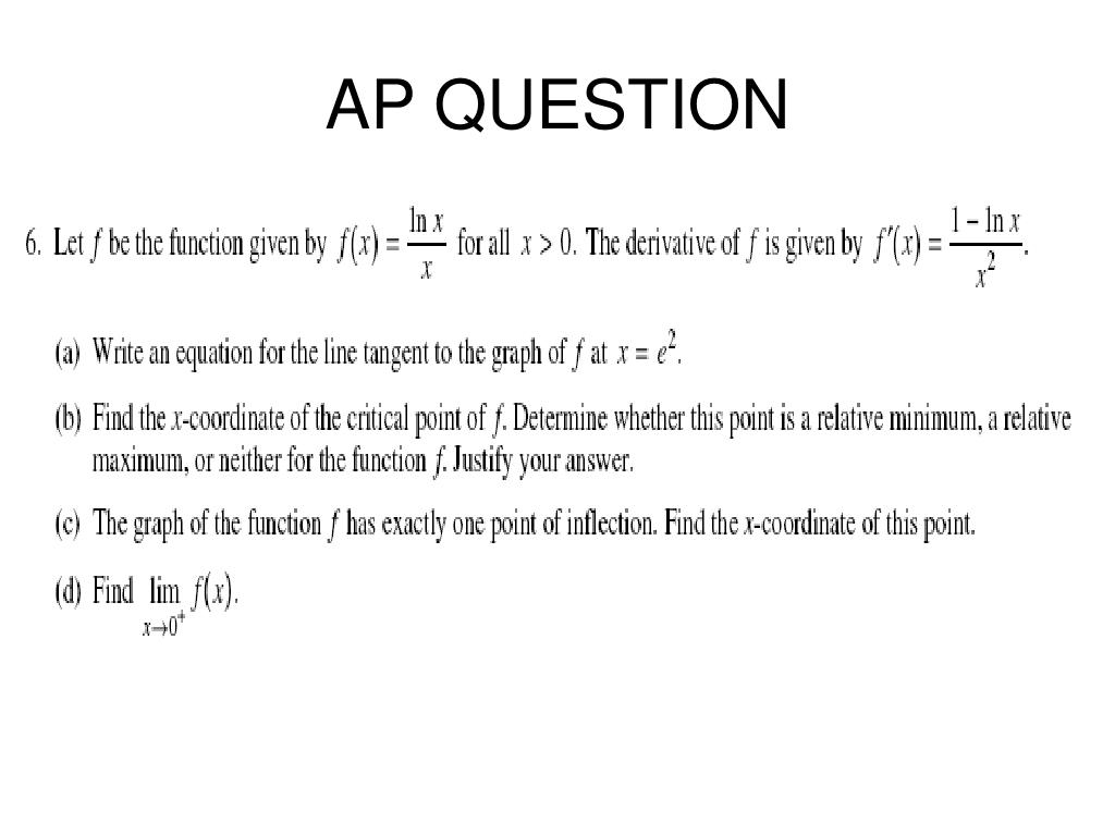 AP QUESTION