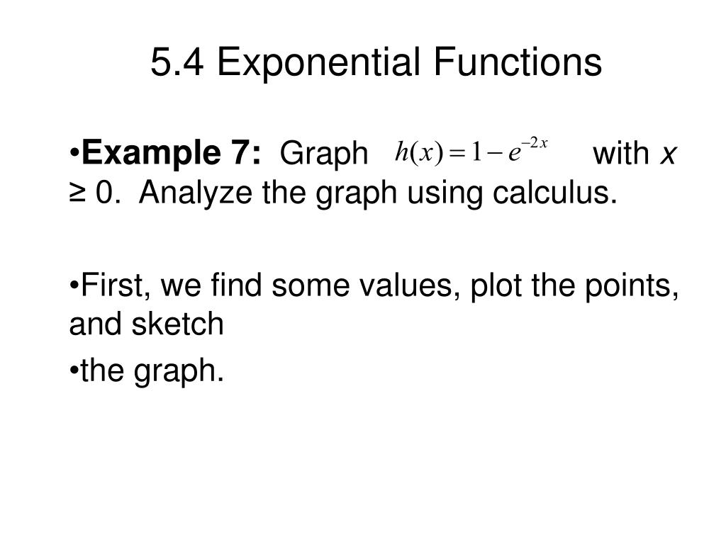 5.4 Exponential Functions