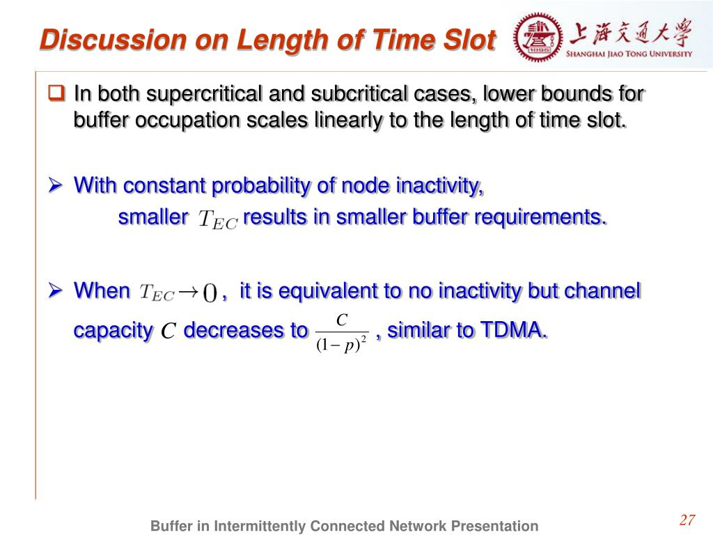 Discussion on Length of Time Slot