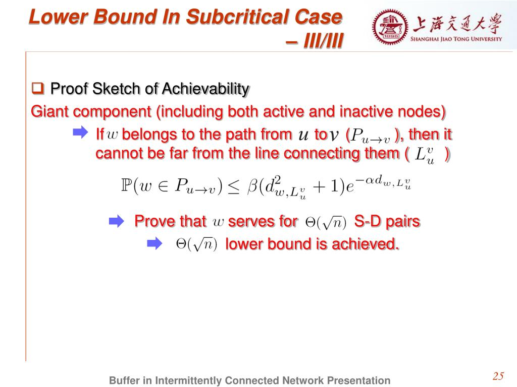 Lower Bound In Subcritical Case