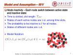 model and assumption iii v