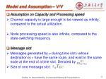 model and assumption v v
