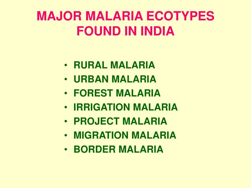 RURAL MALARIA