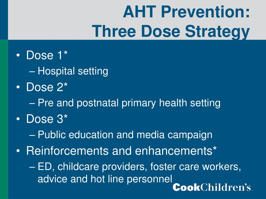 AHT Prevention:  Three Dose Strategy