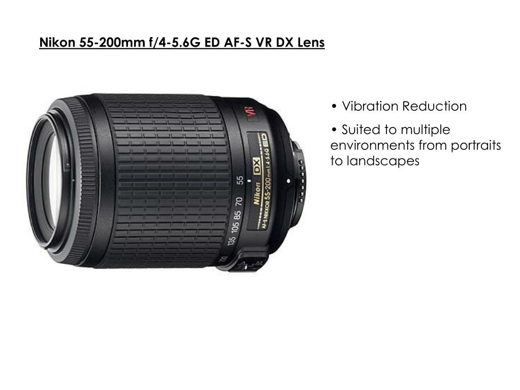 Nikon 55-200mm f/4-5.6G ED AF-S VR DX Lens