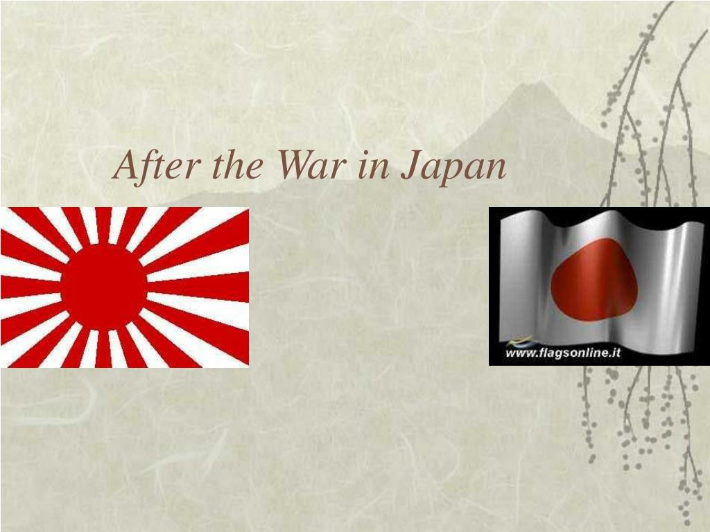After the War in Japan