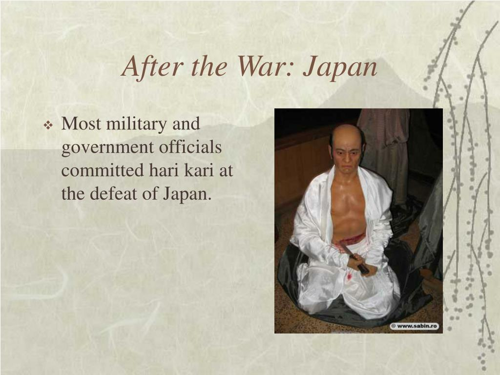 After the War: Japan