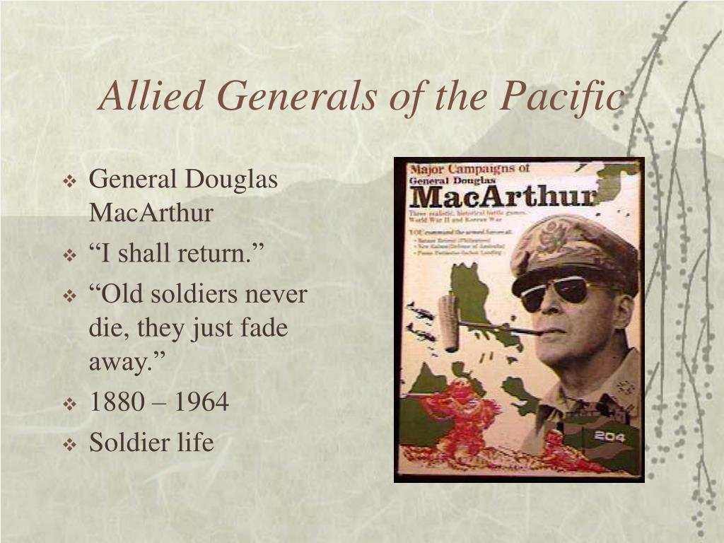 Allied Generals of the Pacific