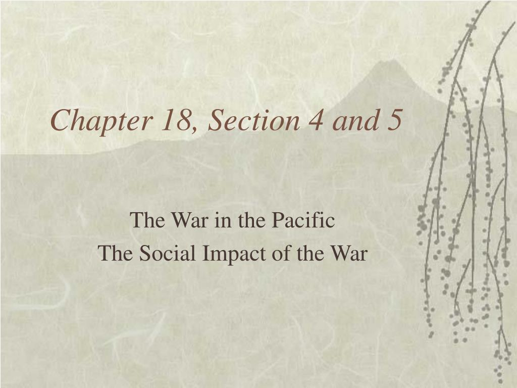 chapter 18 section 4 and 5