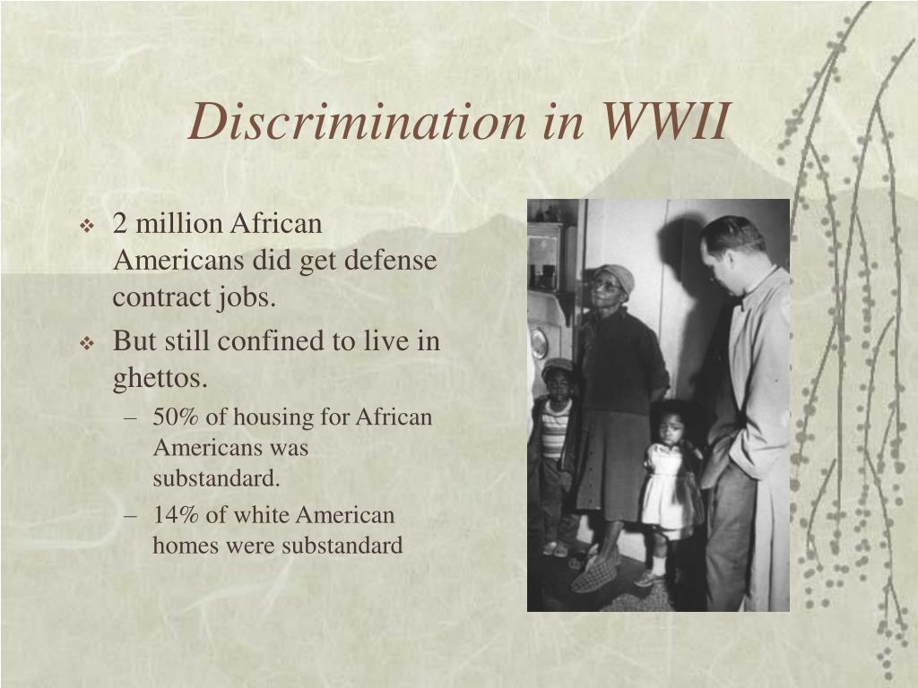 Discrimination in WWII