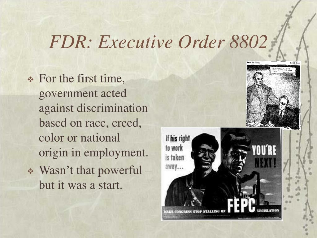 FDR: Executive Order 8802