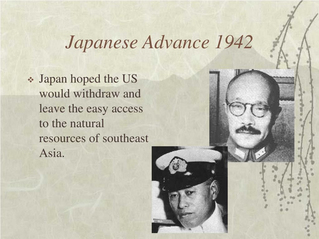 Japanese Advance 1942