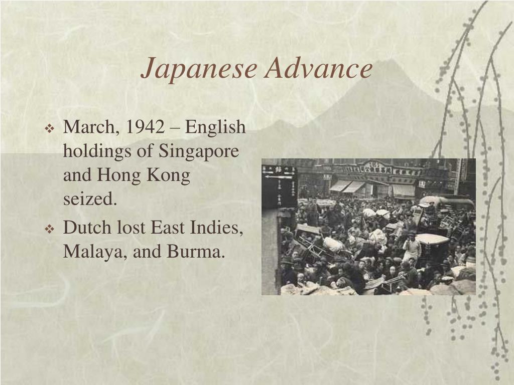 Japanese Advance