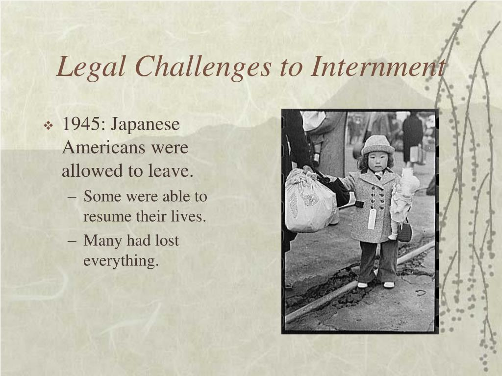 Legal Challenges to Internment