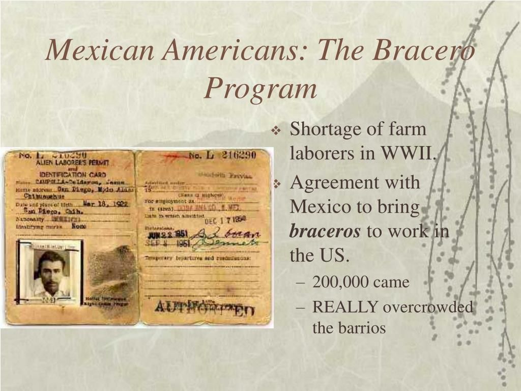 Mexican Americans: The Bracero Program