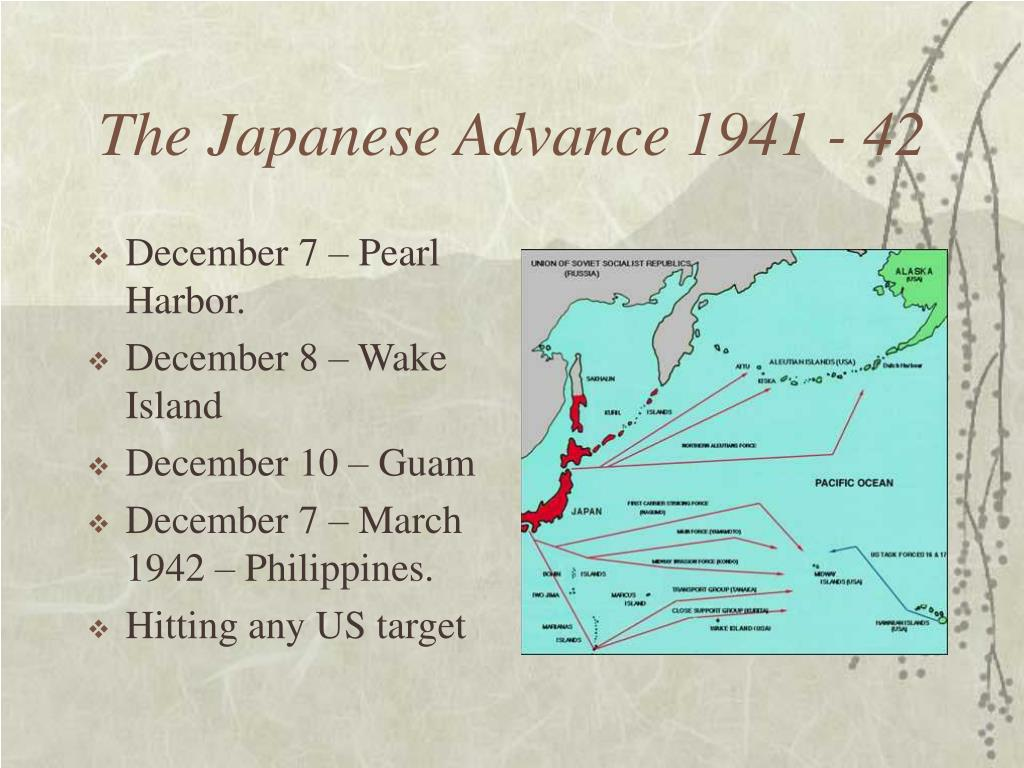 The Japanese Advance 1941 - 42