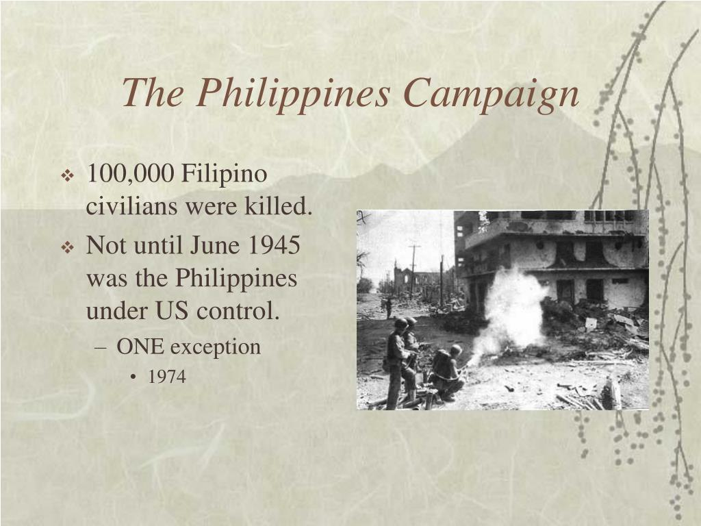 The Philippines Campaign