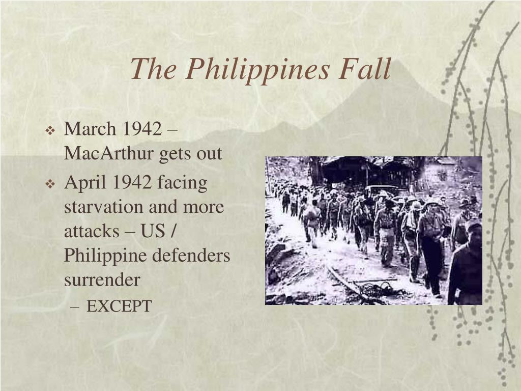 The Philippines Fall