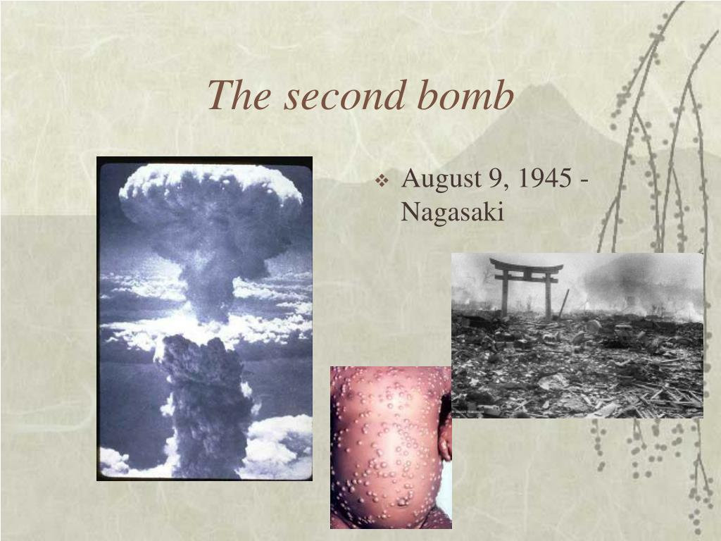 The second bomb
