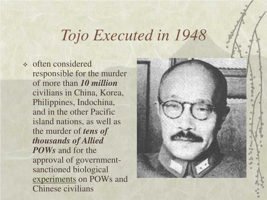 Tojo Executed in 1948